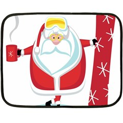 Christmas Santa Claus Fleece Blanket (mini) by Alisyart