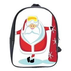 Christmas Santa Claus School Bag (xl) by Alisyart
