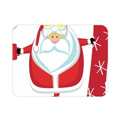 Christmas Santa Claus Double Sided Flano Blanket (mini)  by Alisyart