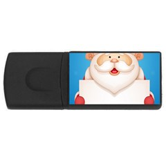Christmas Santa Claus Letter Rectangular Usb Flash Drive by Alisyart