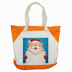 Christmas Santa Claus Letter Accent Tote Bag by Alisyart