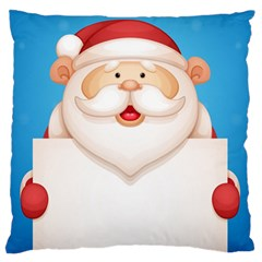 Christmas Santa Claus Letter Large Flano Cushion Case (two Sides) by Alisyart