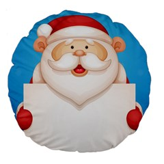 Christmas Santa Claus Letter Large 18  Premium Flano Round Cushions by Alisyart