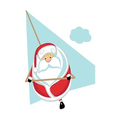 Christmas Santa Claus Paragliding Shower Curtain 48  X 72  (small)  by Alisyart