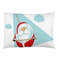 Christmas Santa Claus Paragliding Pillow Case (two Sides) by Alisyart