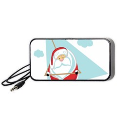 Christmas Santa Claus Paragliding Portable Speaker by Alisyart