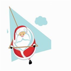 Christmas Santa Claus Paragliding Small Garden Flag (two Sides) by Alisyart