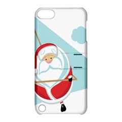 Christmas Santa Claus Paragliding Apple Ipod Touch 5 Hardshell Case With Stand by Alisyart