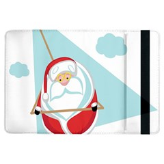 Christmas Santa Claus Paragliding Ipad Air Flip by Alisyart