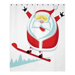 Christmas Santa Claus Playing Sky Snow Shower Curtain 60  X 72  (medium)  by Alisyart