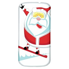 Christmas Santa Claus Playing Sky Snow Samsung Galaxy S3 S Iii Classic Hardshell Back Case by Alisyart