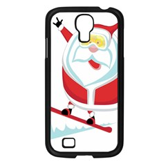 Christmas Santa Claus Playing Sky Snow Samsung Galaxy S4 I9500/ I9505 Case (black) by Alisyart