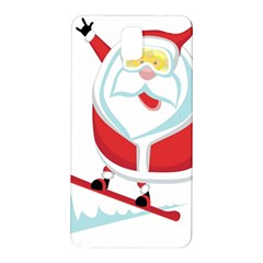Christmas Santa Claus Playing Sky Snow Samsung Galaxy Note 3 N9005 Hardshell Back Case by Alisyart