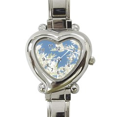 Nature Pattern Heart Italian Charm Watch by dflcprintsclothing