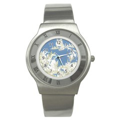 Nature Pattern Stainless Steel Watch by dflcprintsclothing