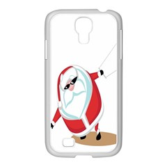 Christmas Santa Claus Snow Cool Sky Samsung Galaxy S4 I9500/ I9505 Case (white) by Alisyart