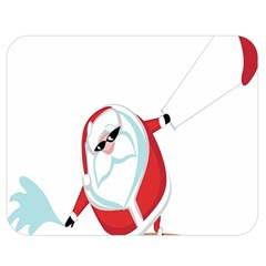 Christmas Santa Claus Snow Cool Sky Double Sided Flano Blanket (medium)  by Alisyart