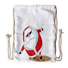 Christmas Santa Claus Snow Cool Sky Drawstring Bag (large) by Alisyart