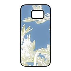 Nature Pattern Samsung Galaxy S7 Edge Black Seamless Case by dflcprintsclothing