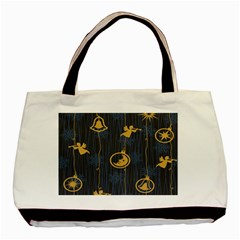 Christmas Angelsstar Yellow Blue Cool Basic Tote Bag (two Sides) by Alisyart
