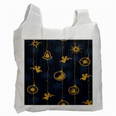 Christmas Angelsstar Yellow Blue Cool Recycle Bag (two Side)  by Alisyart
