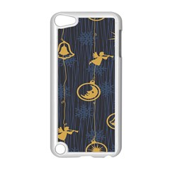 Christmas Angelsstar Yellow Blue Cool Apple Ipod Touch 5 Case (white) by Alisyart