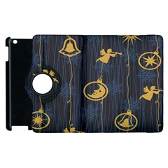 Christmas Angelsstar Yellow Blue Cool Apple Ipad 2 Flip 360 Case by Alisyart