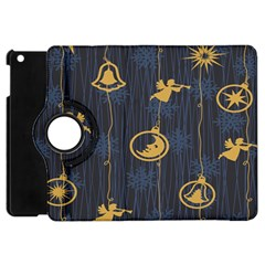 Christmas Angelsstar Yellow Blue Cool Apple Ipad Mini Flip 360 Case by Alisyart