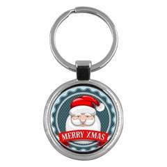 Christmas Santa Claus Xmas Key Chains (round)