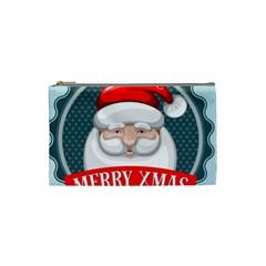 Christmas Santa Claus Xmas Cosmetic Bag (small)  by Alisyart