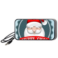 Christmas Santa Claus Xmas Portable Speaker by Alisyart