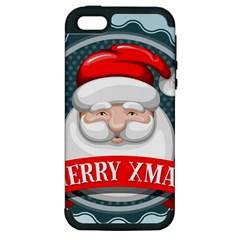 Christmas Santa Claus Xmas Apple Iphone 5 Hardshell Case (pc+silicone) by Alisyart