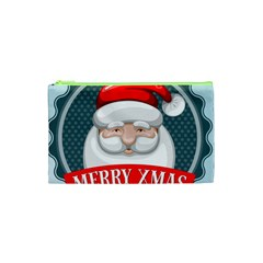 Christmas Santa Claus Xmas Cosmetic Bag (xs) by Alisyart
