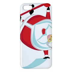 Christmas Santa Claus Snow Sky Playing Apple Iphone 5 Premium Hardshell Case by Alisyart
