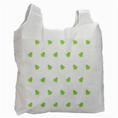 Christmas Tree Green Recycle Bag (one Side) by Alisyart
