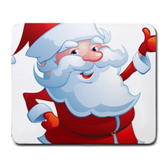 Christmas Santa Claus Snow Red White Large Mousepads by Alisyart