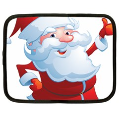 Christmas Santa Claus Snow Red White Netbook Case (large) by Alisyart