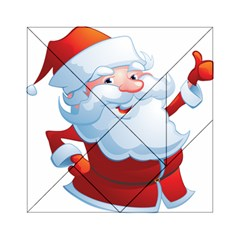 Christmas Santa Claus Snow Red White Acrylic Tangram Puzzle (6  X 6 ) by Alisyart