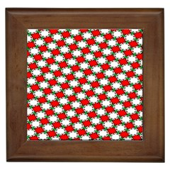 Christmas Star Red Green Framed Tiles by Alisyart