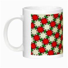 Christmas Star Red Green Night Luminous Mugs by Alisyart