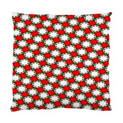 Christmas Star Red Green Standard Cushion Case (one Side) by Alisyart