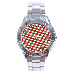 Christmas Star Red Green Stainless Steel Analogue Watch by Alisyart