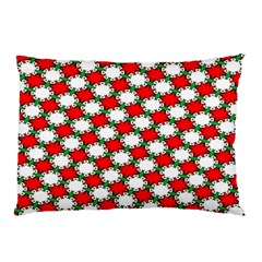 Christmas Star Red Green Pillow Case (two Sides) by Alisyart