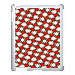 Christmas Star Red Green Apple Ipad 3/4 Case (white) by Alisyart