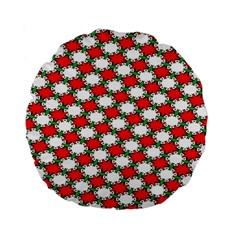 Christmas Star Red Green Standard 15  Premium Round Cushions by Alisyart