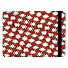 Christmas Star Red Green Samsung Galaxy Tab Pro 12 2  Flip Case by Alisyart