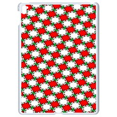 Christmas Star Red Green Apple Ipad Pro 9 7   White Seamless Case by Alisyart
