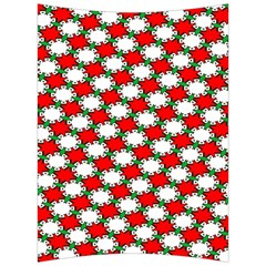 Christmas Star Red Green Back Support Cushion by Alisyart