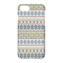 Christmas Star Flower Red Blue Apple Iphone 8 Hardshell Case by Alisyart