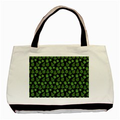 Christmas Pattern Gif Star Tree Happy Green Basic Tote Bag (two Sides) by Alisyart